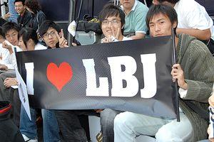 LBJ fans