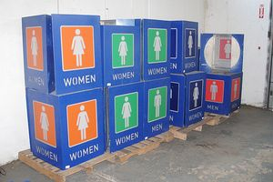 Shea Stadium Restroom Signs