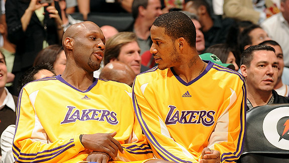 Lamar Odom and Trevor Ariza
