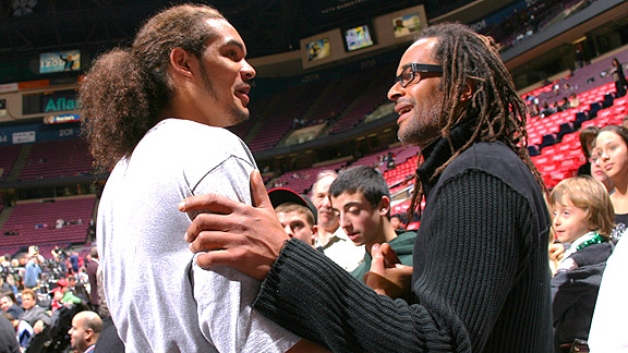 Yannick Noah and Joakim Noah