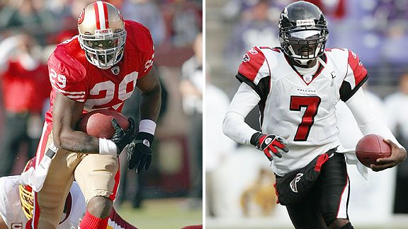 DeShaun Foster and Michael Vick