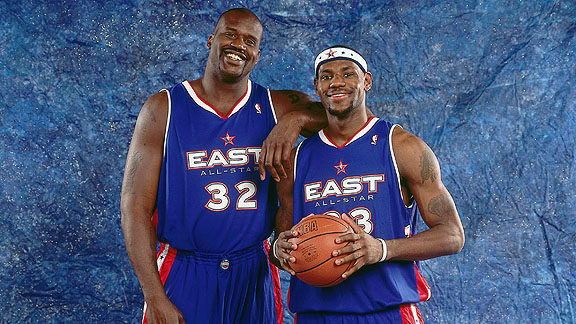 Lebron James and Shaq