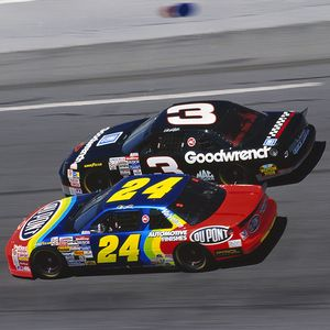 Gordon and Earnhardt Sr.