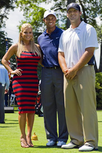 Jessica Simpson, Tiger Woods and Tony Romo