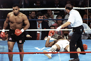 Mike Tyson and Michael Spinks