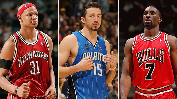 Charlie Villanueva, Hedo Turkoglu and Ben Gordon