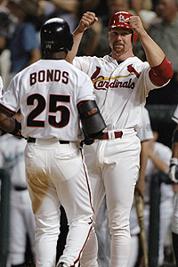 Mark McGwire and Barry Bonds