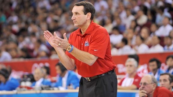 NBA -- Team USA in good hands with Mike Krzyzewski