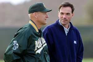 Billy Beane and Art Howe