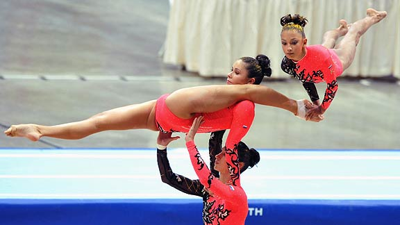 Russian Acrobatic gymnasts