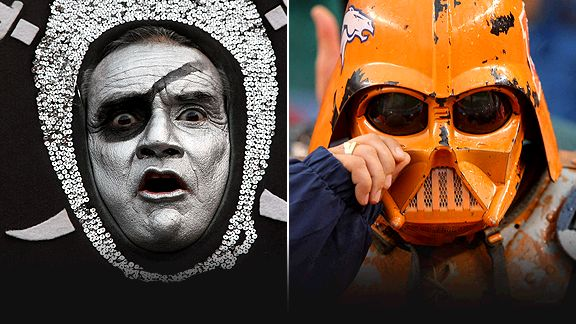 Oakland Raiders and Denver Broncos fans