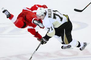 Evgeni Malkin and Darren Helm