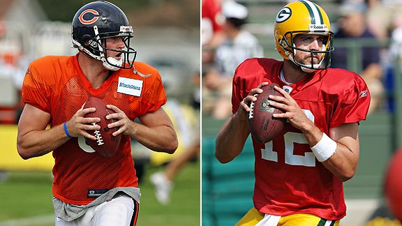 Jay Cutler and Aaron Rodgers