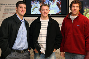Tim Tebow, Colt McCoy and Sam Bradford