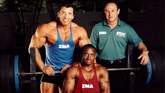Victor Conte, Tim Montgomery and Milos Sarcev