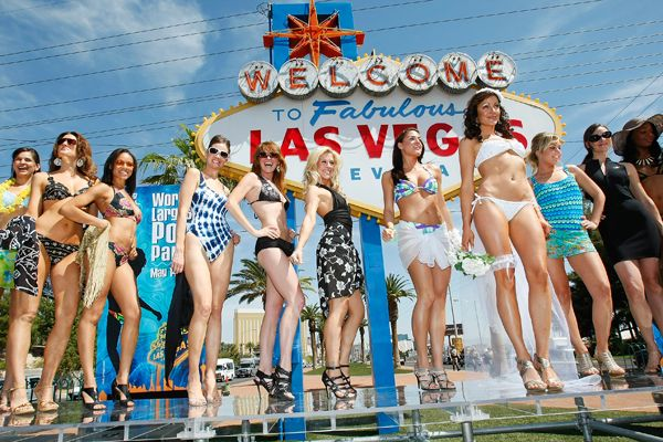 [+] Enlarge Binkini Parade. Ethan Miller/Getty Images/Visitlasvegas.com Only ...