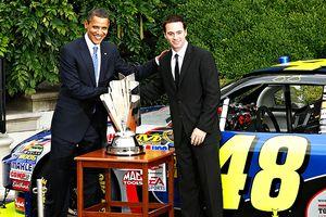 Barack Obama and Jimmie Johnson