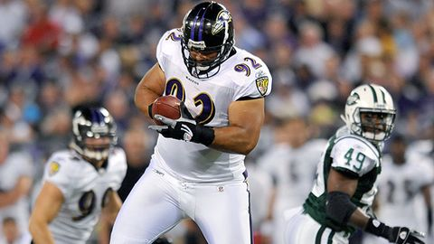 Ravens defensive lineman Haloti Ngata picked off Jets quarterback Mark