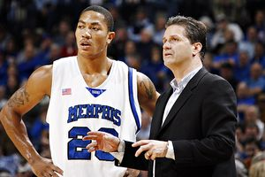 John Calipari and Derrick Rose