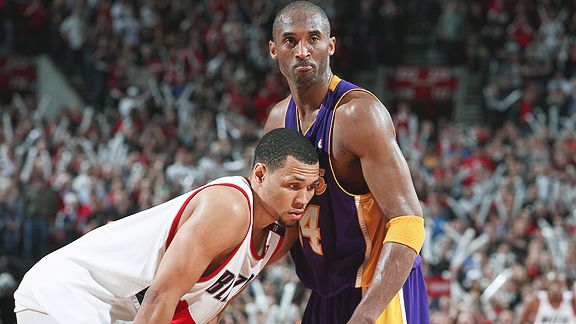 Brandon Roy and Kobe Bryant