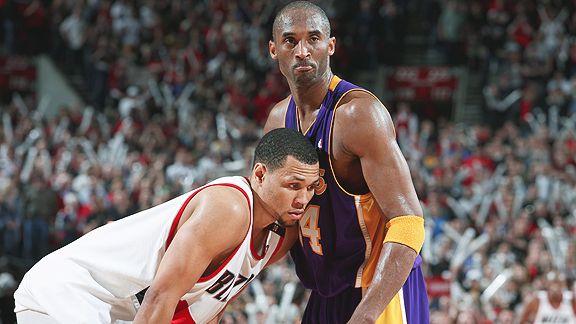 Brandon Roy and Kobe Bryant