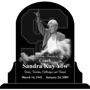 Kay Yow Headstone art