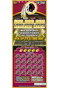 Redskins lotto ticket