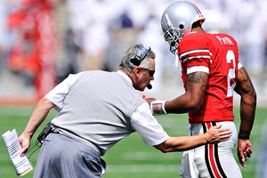 Jim Tressel and Terrelle Pryor