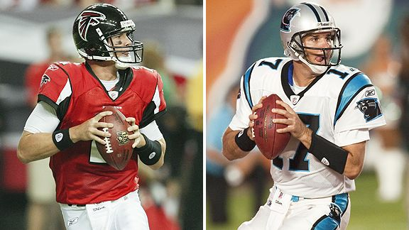 Matt Ryan and Jake Delhomme