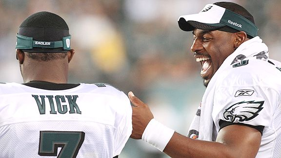 Michael Vick and Donovan McNabb