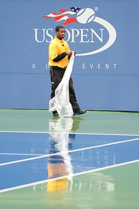 US Open rain