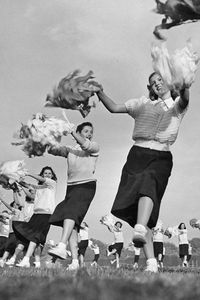 Old-school cheerleaders