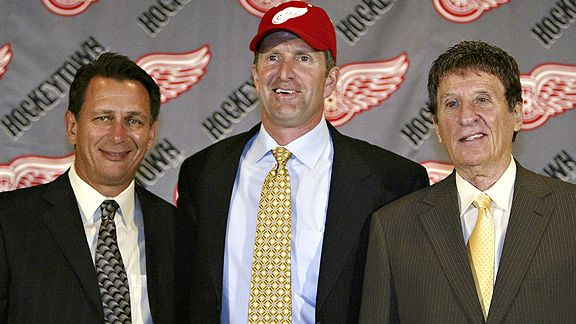 Ken Holland, Mike Babcock and Mike Ilitch