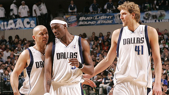 Jason Kidd, Josh Howard, and Dirk Nowitzki