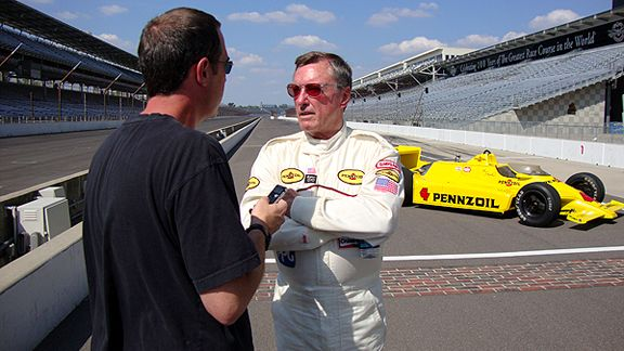 John Oreovicz and Johnny Rutherford
