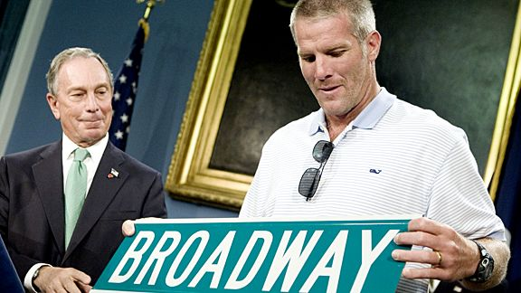 BrettFavre and Michael Bloomberg