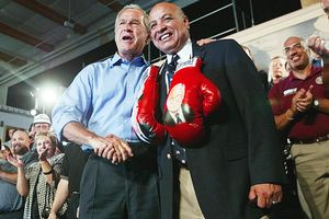 George Bush and Joe Cortez
