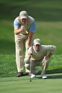 Ernie Els and Mike Weir