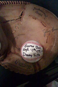 Danny Fritz's game ball