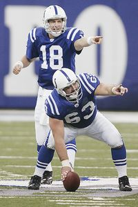 Peyton Manning and Jeff Saturday
