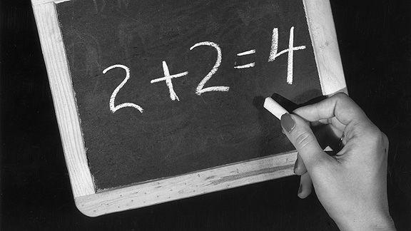 Math on blackboard