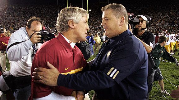 Pete Carroll and Charlie Weis