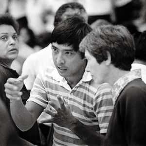 Hawaii women's volleyball coach Dave Shoji in 1978