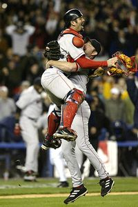 Jason Varitek and Alan Embree