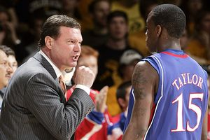 Bill Self and Tyshawn Taylor