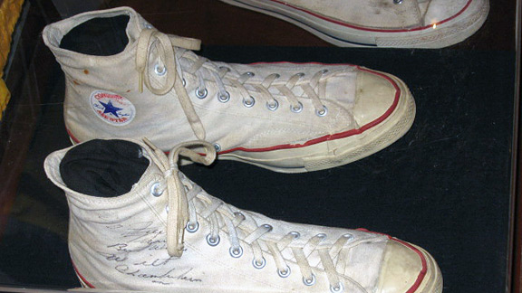 Wilt Chamberlain game-worn Converse high top shoes