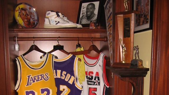 Magic Johnson locker shrine