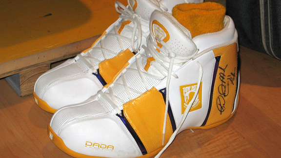 Karl Malone's game-worn shoes
