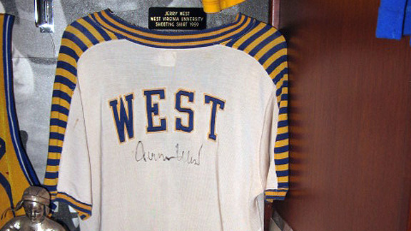 Jerry West West Virginia University warm-up jacket