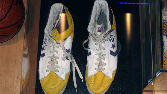 Magic Johnson's Converse shoes